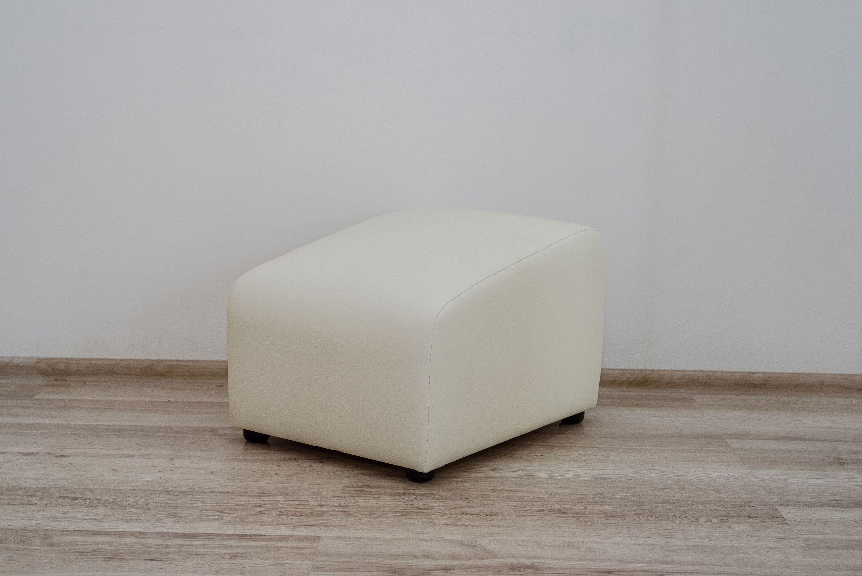 Пуф Синди (белая экокожа)