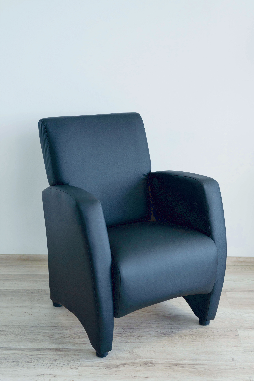 Кресло Синди (черная экокожа)